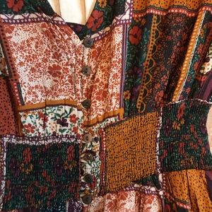 Free People inspired patchwork boho dress size XS